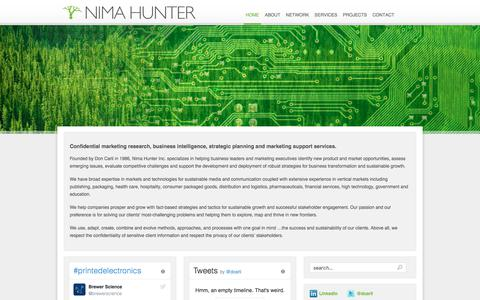 Screenshot of Home Page nimahunter.com - Nima Hunter Inc - captured June 28, 2017