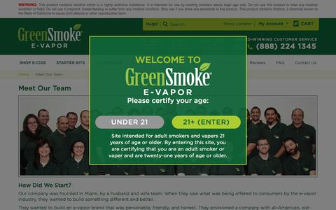 Screenshot of About Page greensmoke.com - Customer Service - Meet Our Team Page - captured Jan. 14, 2016