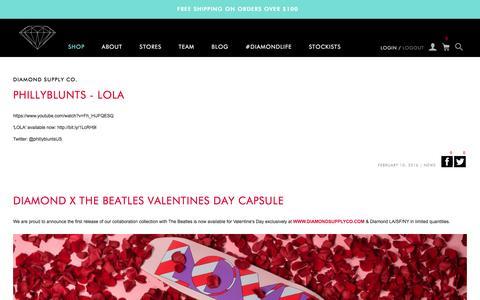 Screenshot of Blog Press Page diamondsupplyco.com - Diamond Supply Co. - captured Feb. 11, 2016