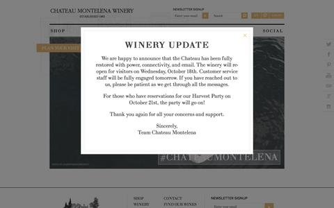 Screenshot of Home Page montelena.com - Chateau Montelena Winery - captured Oct. 16, 2017