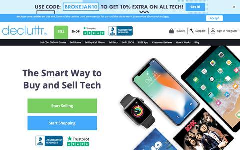 Screenshot of Home Page decluttr.com - Sell My Stuff | Sell Stuff Online | Declutter Your Unwanted Stuff | Decluttr - captured Jan. 26, 2019