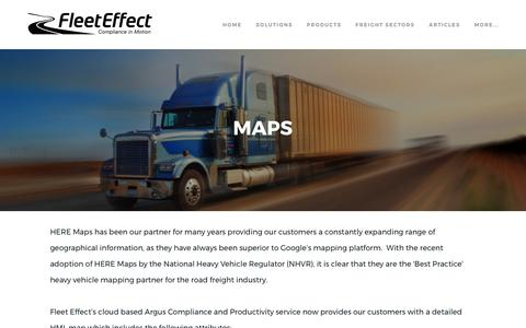 Screenshot of Maps & Directions Page fleeteffect.com - Maps - Fleet Effect - Compliance in Motion - captured June 6, 2017