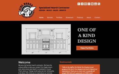 Screenshot of Home Page fire-works-fireplace.com - Fire Works Fireplace | Specialized Hearth Contractor | Minnesota - captured Sept. 30, 2014