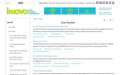 Screenshot of Case Studies Page innovo-network.com - Case Studies | INNOVO - captured Oct. 3, 2014