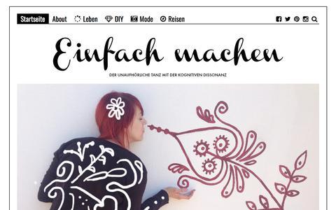 Screenshot of Home Page einfach-machen.blog - einfach-machen.blog: Modeblog & Lifestyleblog | Fashion, Reisen und DIY aus Berlin - captured Aug. 28, 2017