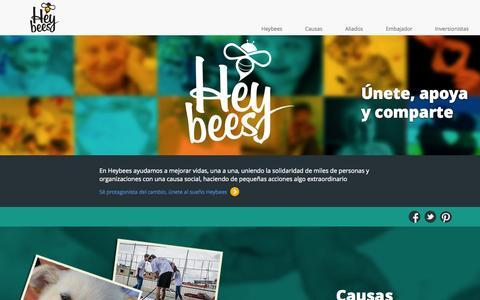 Screenshot of Home Page heybees.com - Heybees - Haz posible lo imposible - captured Sept. 30, 2014