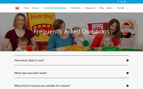Screenshot of FAQ Page musicbus.com - Frequently Asked Questions - Music Bus - captured Sept. 21, 2018