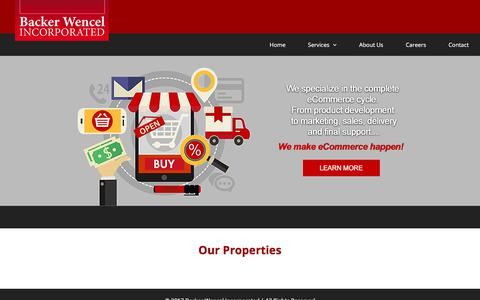 Screenshot of Home Page bwincorporated.com - Backer Wencel Incorporated – E-commerce retail properties - captured Oct. 9, 2017
