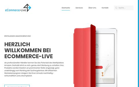 Screenshot of Home Page e-commerce-live.com - e-commerce-live.com – E-Commerce Beratung für Markenhersteller, Händler und Start-ups! - captured Oct. 30, 2018