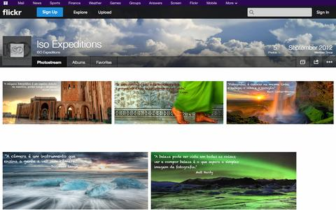 Screenshot of Flickr Page flickr.com - Flickr: ISO Expeditions' Photostream - captured Oct. 23, 2014