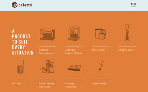 Screenshot of Products Page cafetto.com - Products   Cafetto - captured July 15, 2018