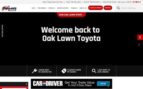 Screenshot of Home Page oaklawntoyota.com - Oak Lawn Toyota | Toyota Dealer in Oak Lawn, IL - captured Sept. 20, 2018