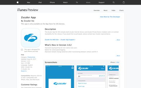 Zscaler App on the App Store