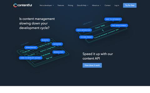 Contentful: a developer-friendly, API-first CMS