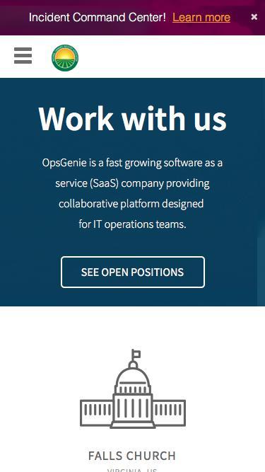 Screenshot of Jobs Page  opsgenie.com - OpsGenie | Careers