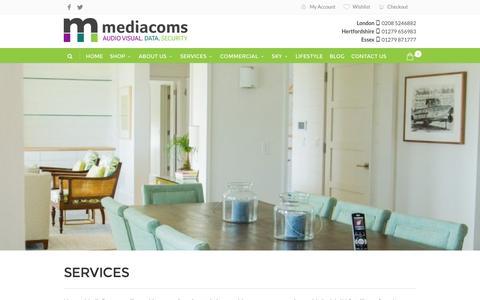 Screenshot of Services Page mediacoms.co.uk - Services | MediaComs - captured Nov. 28, 2016