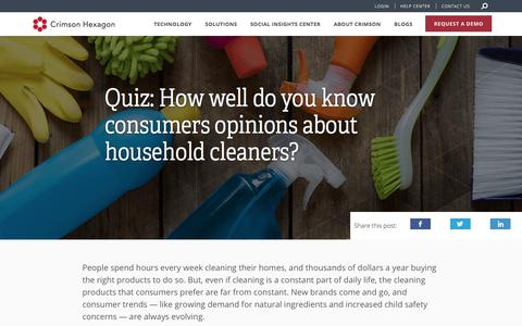 CPG – Quiz – Surface Cleaners