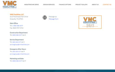 Screenshot of Contact Page vmcfacilities.com - Contact VMC Facilities | VMC Facilities - captured Dec. 3, 2016