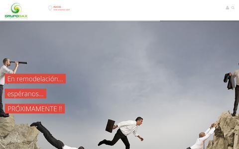 Screenshot of Home Page grupogax.com.mx - Grupo GAX - captured Sept. 30, 2014