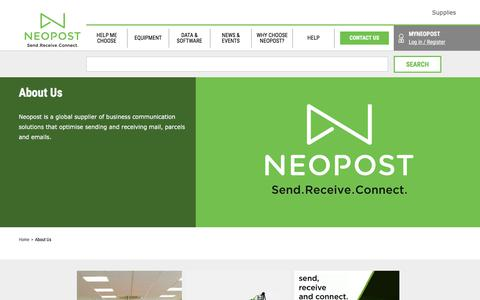 Screenshot of About Page neopost.co.uk - About Us   Neopost - captured Oct. 11, 2017
