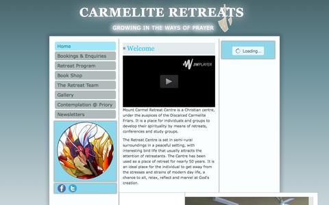 Screenshot of Home Page carmeliteretreats.com.au - Carmelite Retreats - Home - captured Sept. 4, 2015