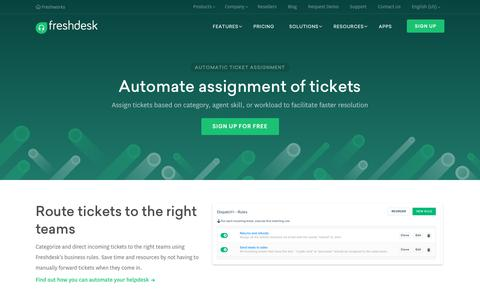 Automatic ticket assignment in Freshdesk