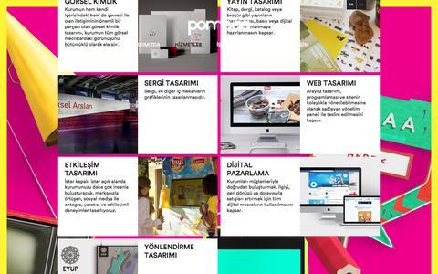 Screenshot of Services Page pompaa.com - POMPAA   Hizmetler - captured July 25, 2018