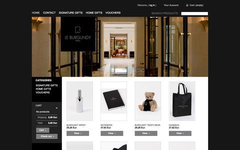 Screenshot of Home Page shop-leburgundy.com - shop-leburgundy - captured April 21, 2016