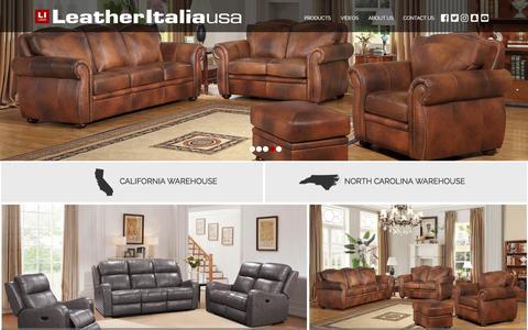 Screenshot of Home Page leatheritaliausa.com - home - Leather Italia USA - captured May 22, 2018