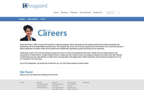 Screenshot of Jobs Page thrupoint.com - Thrupoint Careers | Thrupoint - captured Sept. 17, 2014