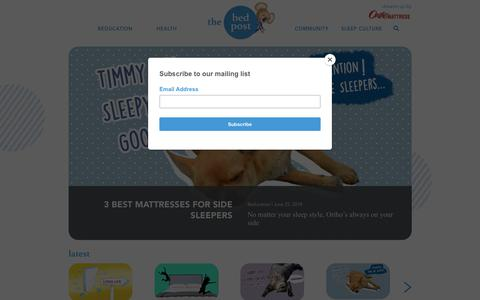 Screenshot of Blog orthomattress.com - The Bed Post - Dreamt Up By Ortho Mattress® - captured Oct. 19, 2018