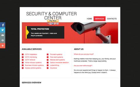 Screenshot of Services Page thepwrserg.com - Services - captured Sept. 30, 2014