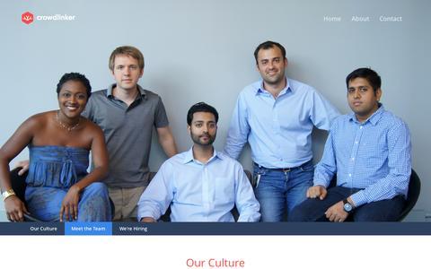 Screenshot of About Page crowdlinker.com - Crowdlinker - About us - captured Sept. 13, 2014