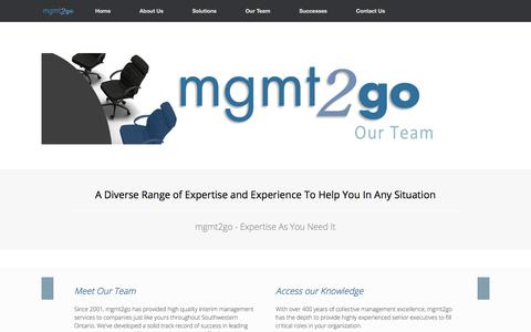 Screenshot of Team Page mgmt2go.com - Our Team   mgmt2go - captured July 26, 2018