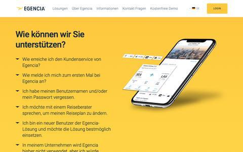Screenshot of Support Page egencia.com - So erreichen Sie einen Reiseberater von Egencia. - Egencia Deutschland - captured Dec. 14, 2018