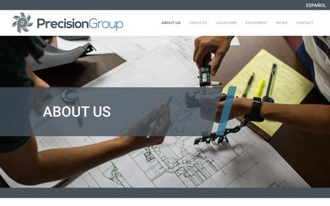 Screenshot of About Page precision-group.com - Precision Group - captured Feb. 19, 2019