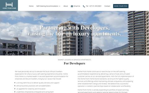 Screenshot of Developers Page homefromhome.co.za - Developers - HFH - captured Sept. 22, 2018