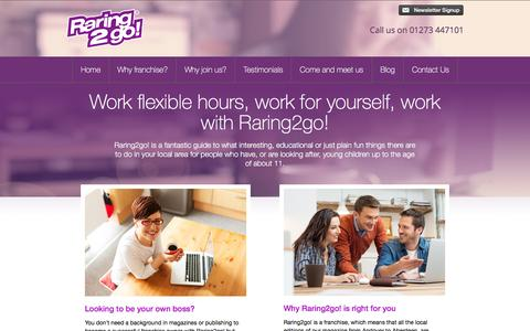 Screenshot of Home Page getraring2go.co.uk - Getraring2go! - captured March 17, 2016
