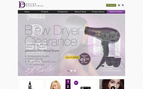 Screenshot of Home Page designessentials.com - Design Essentials Professional Hair Care Products - captured Dec. 5, 2015