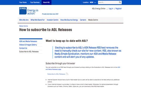 AGL - How to subscribe to AGL Releases