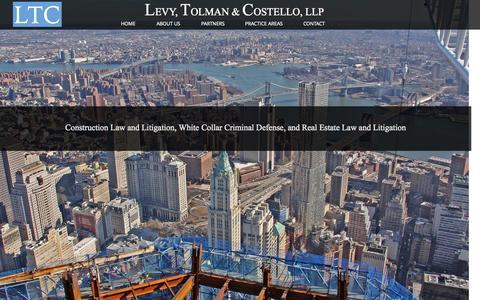Screenshot of Home Page levytolman.com - Levy, Tolman & Costello, LLP - captured Oct. 2, 2014