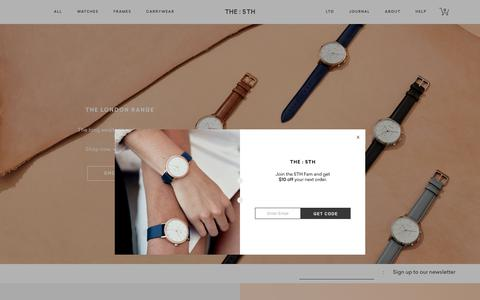 Screenshot of Home Page the5th.co - THE 5TH | Watches, Bags & Accessories Online | Men's and Women's - captured July 8, 2018