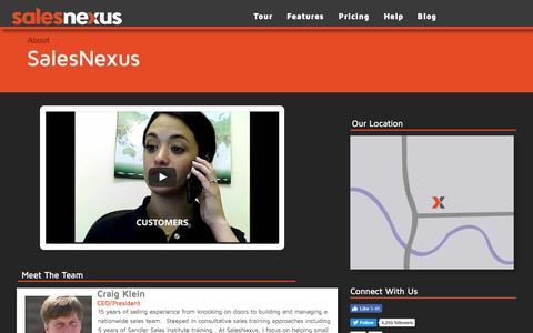 Screenshot of About Page salesnexus.com - About us - captured Nov. 22, 2016