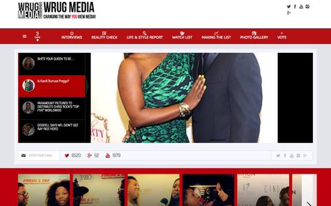 Screenshot of Home Page wrugradio.com - WRUG MEDIA - Changing The Way YOU View Media! - captured Oct. 8, 2014
