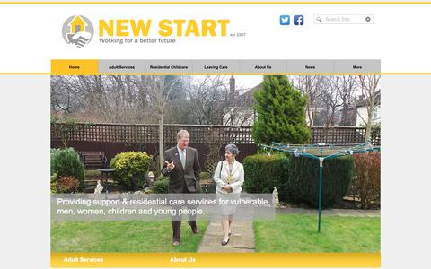 Screenshot of Home Page newstarthomes.org.uk - New Start Homes - captured Oct. 20, 2017