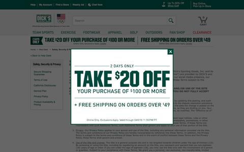 Screenshot of Terms Page dickssportinggoods.com - DICK'S Sporting Goods – Official Site – Every Season Starts at DICK'S - captured April 5, 2016