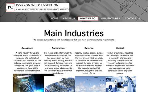 Screenshot of Services Page pyykkonencorp.com - Pyykkonen Corporation | Welcome - captured Nov. 11, 2018