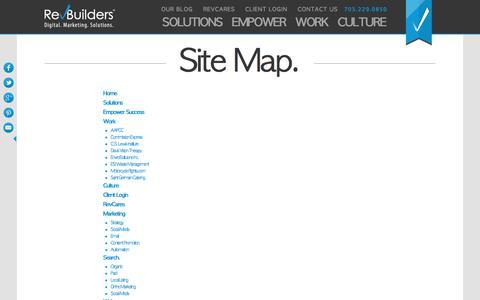 Screenshot of Site Map Page revbuilders.com - Sitemap – Rebuilders - captured July 3, 2017