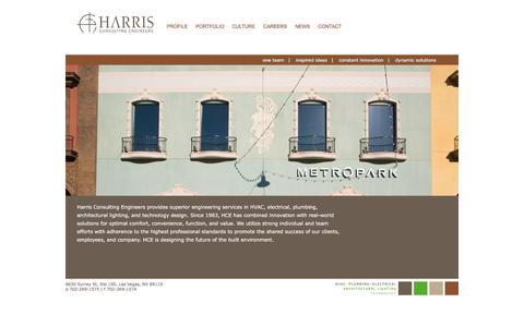 Screenshot of Home Page harrisengineers.com - Harris Consulting Engineers - captured Jan. 26, 2016