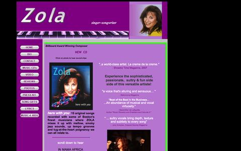Screenshot of Home Page zola.us - www.zola.us - captured Oct. 6, 2014